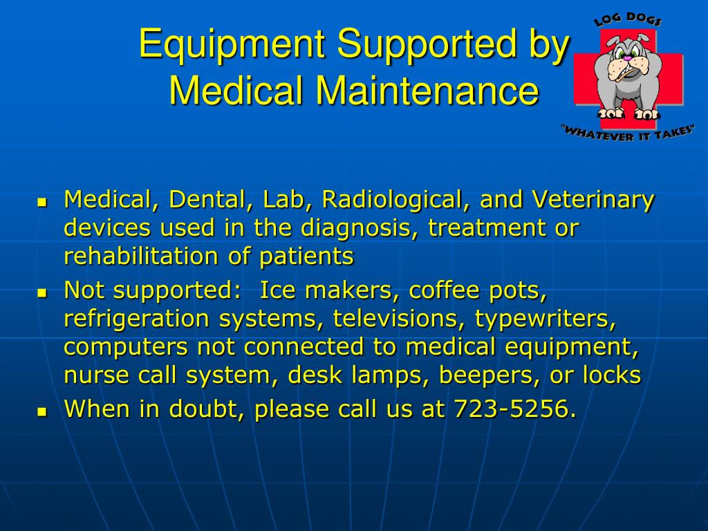 Equipment Supported by