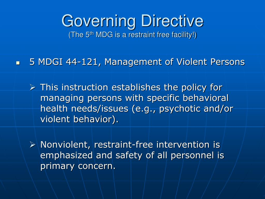 Governing Directive