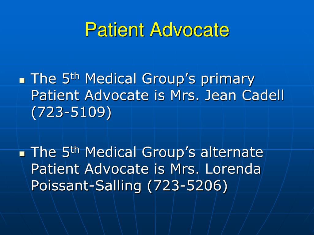 Patient Advocate