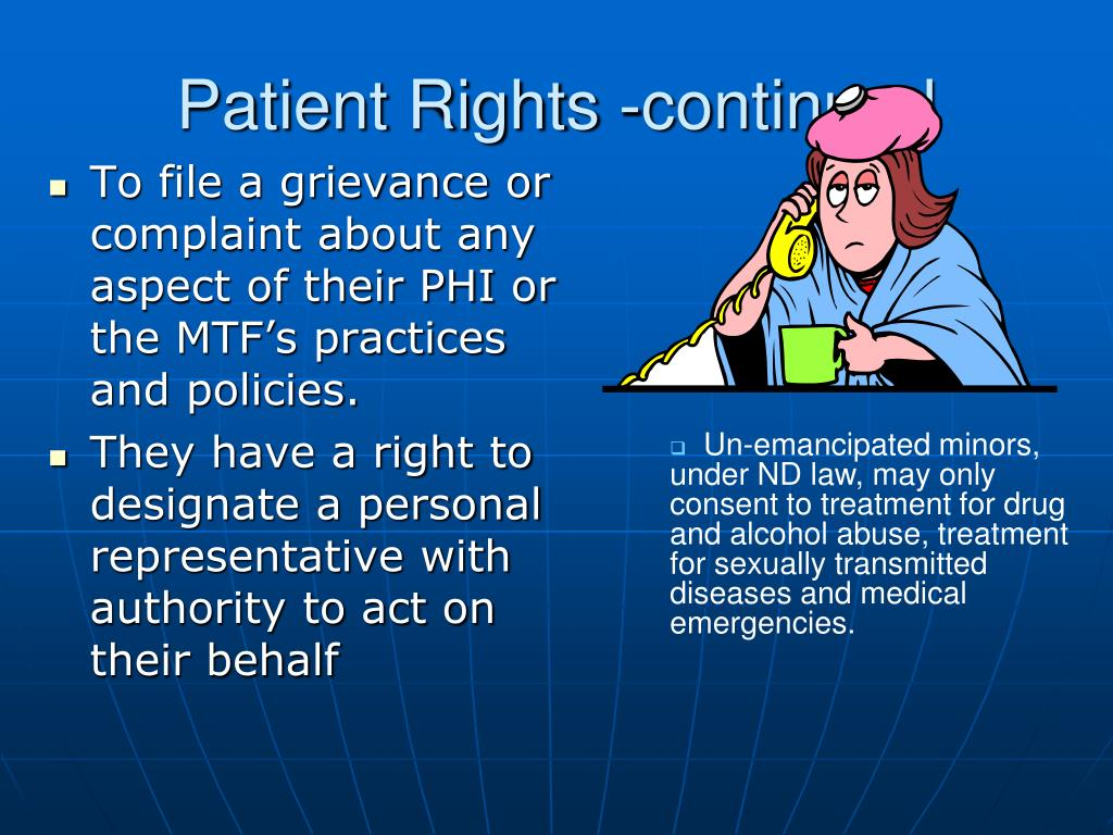 Patient Rights -continued