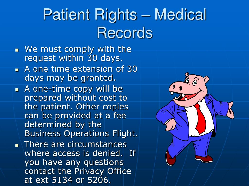 Patient Rights – Medical Records