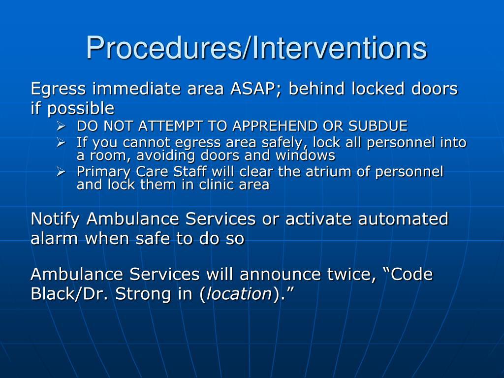 Procedures/Interventions