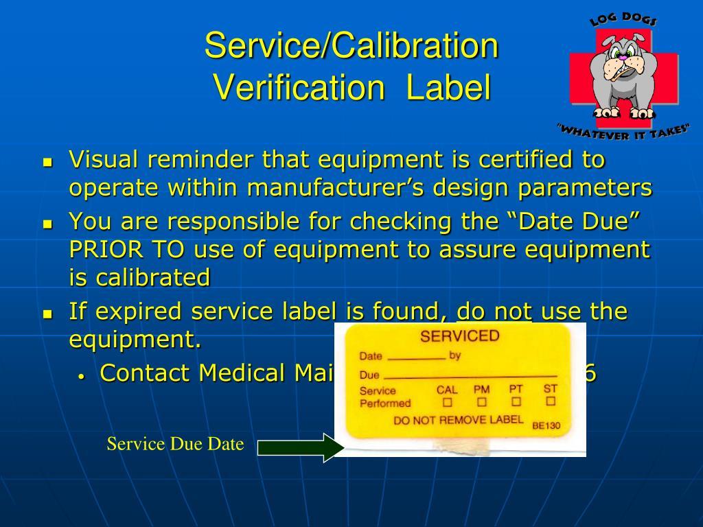 Service/Calibration