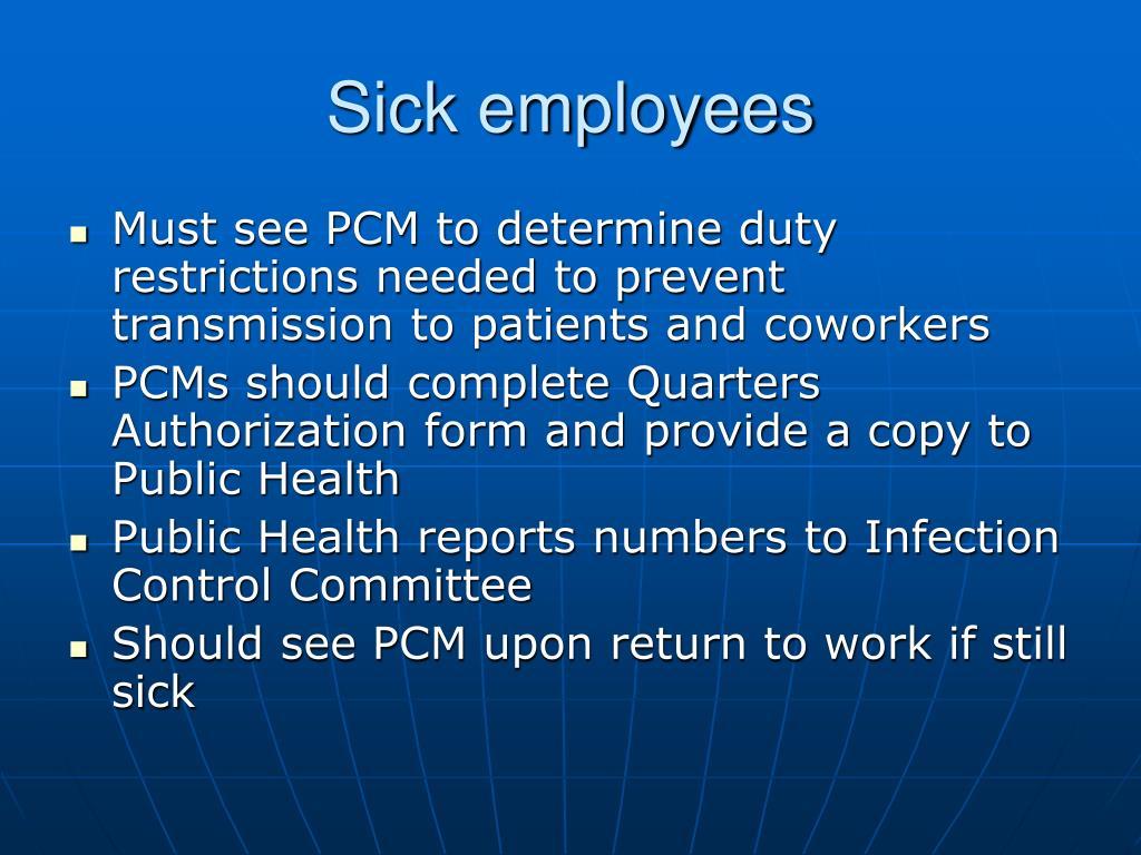 Sick employees