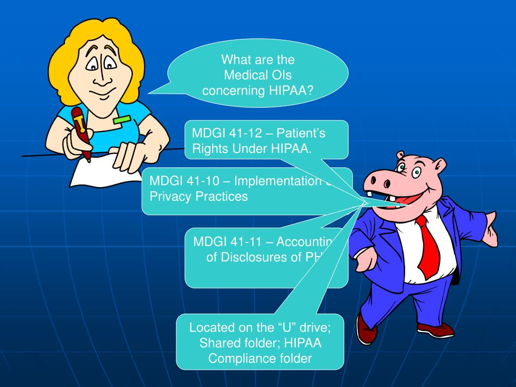 What are the Medical OIs concerning HIPAA?