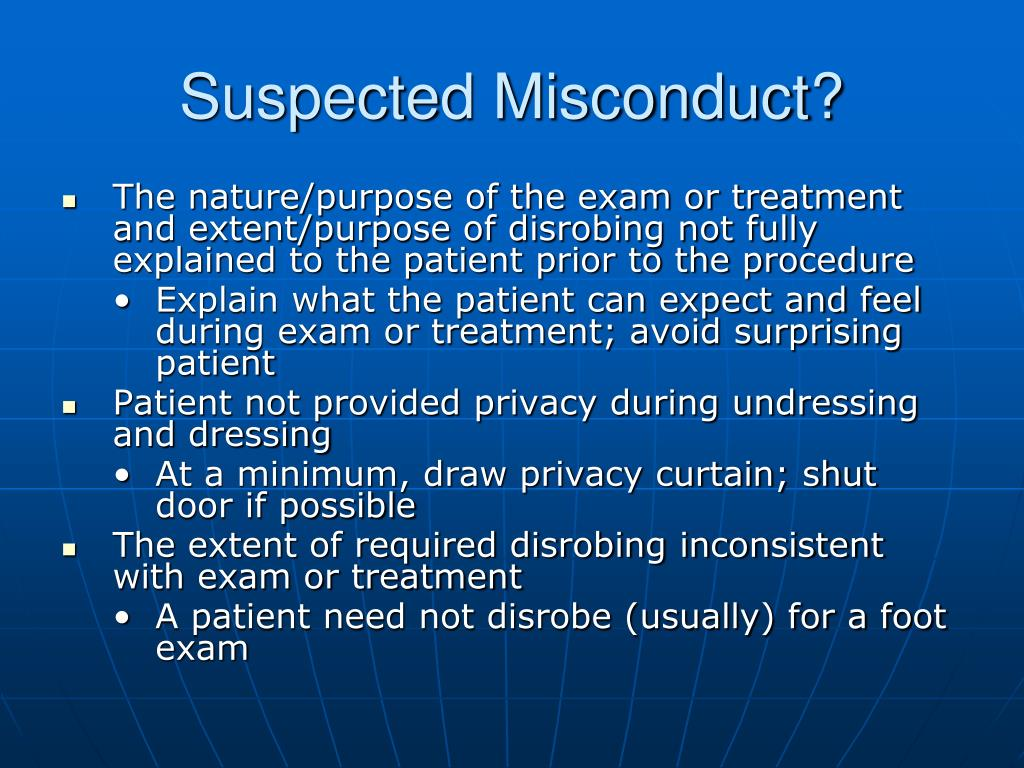 Suspected Misconduct?
