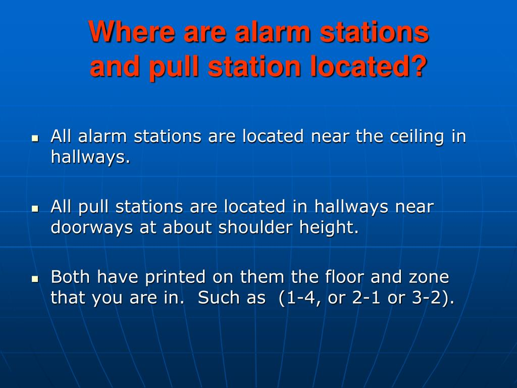 Where are alarm stations