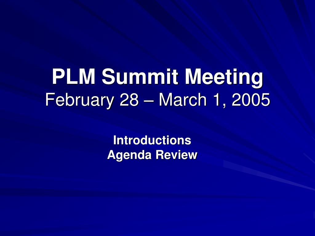 PLM Summit Meeting