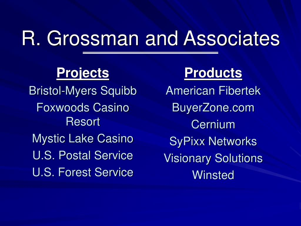 R. Grossman and Associates
