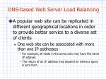dns based web server load balancing