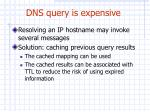 dns query is expensive