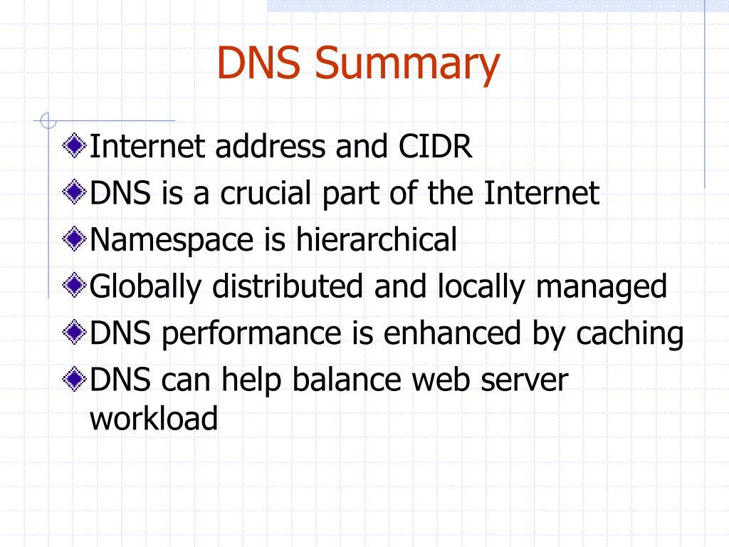 DNS Summary