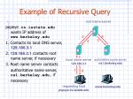 example of recursive query