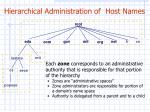 hierarchical administration of host names