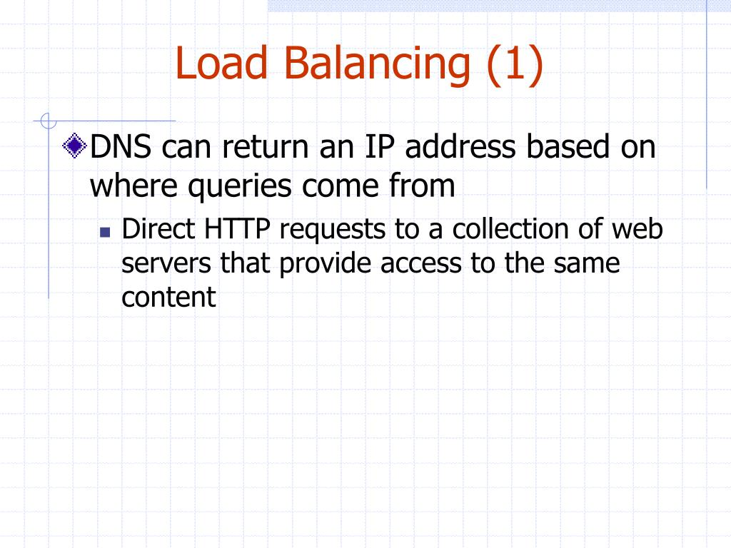 Load Balancing (1)