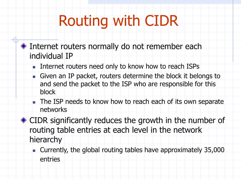 Routing with CIDR