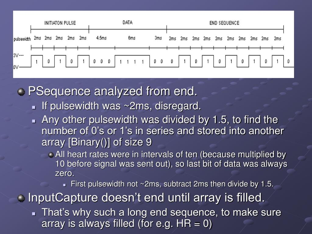 PSequence analyzed from end.