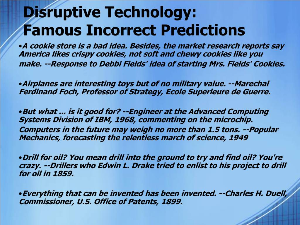 Disruptive Technology: