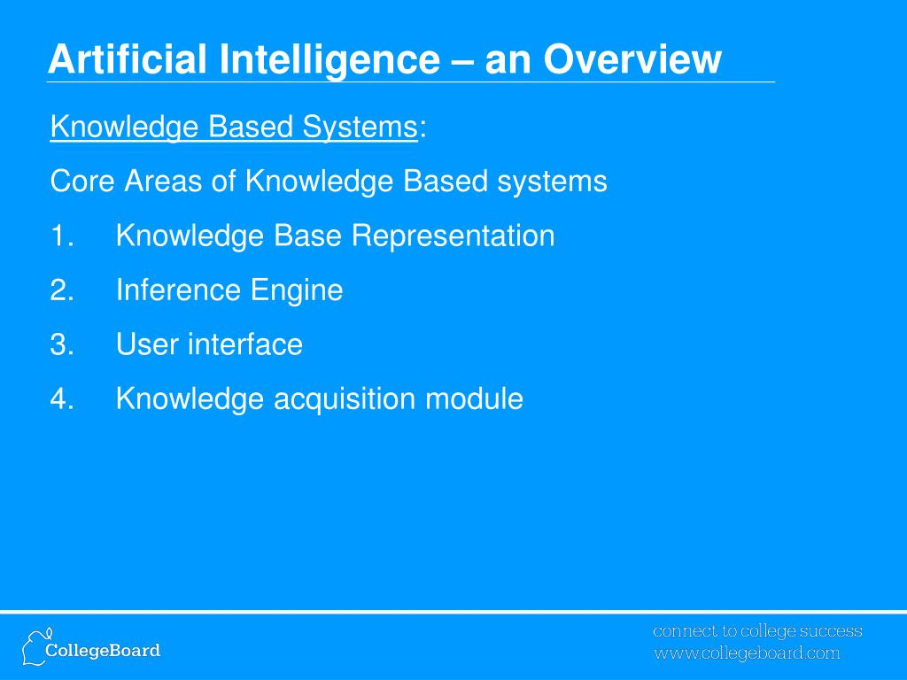 overview of artificial intelligence The ai now institute at new york university is an interdisciplinary research center dedicated to understanding the social implications of artificial intelligence.