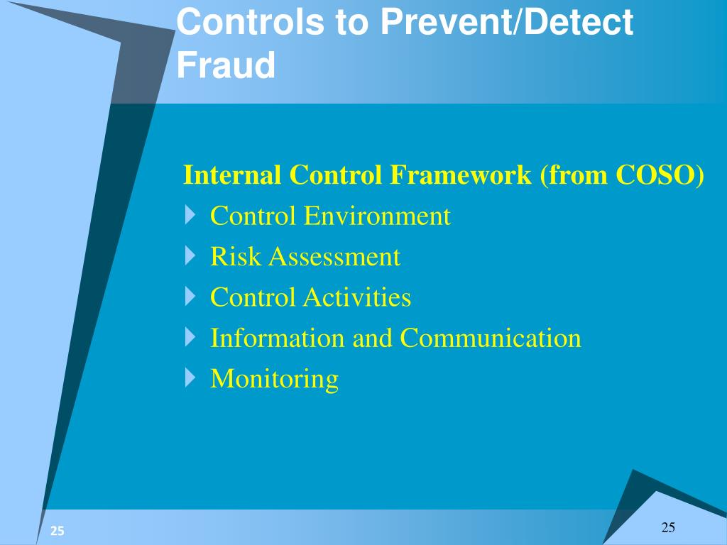 Controls to Prevent/Detect Fraud