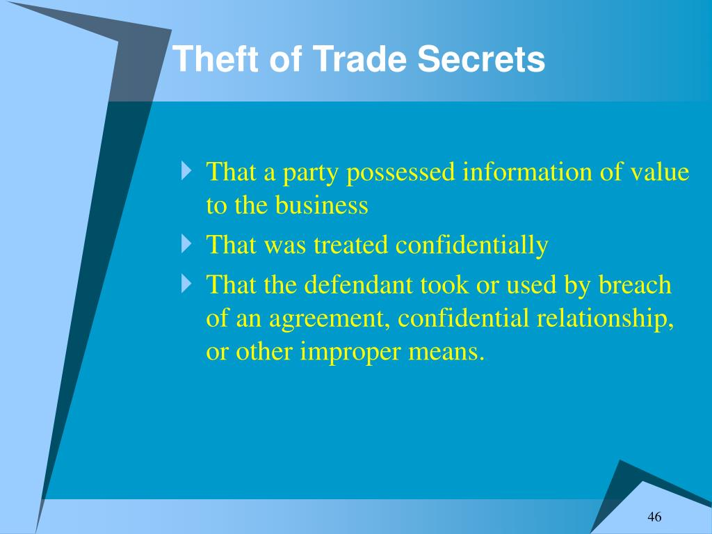 Theft of Trade Secrets