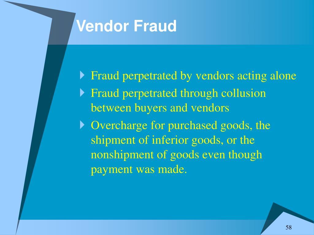 Vendor Fraud