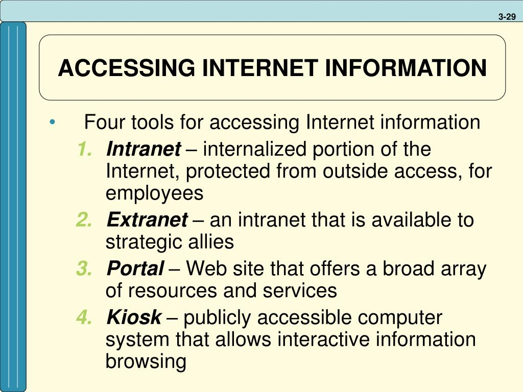 ACCESSING INTERNET INFORMATION