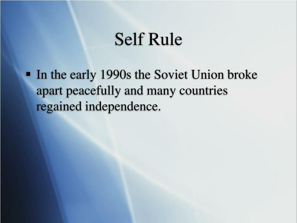 Self Rule