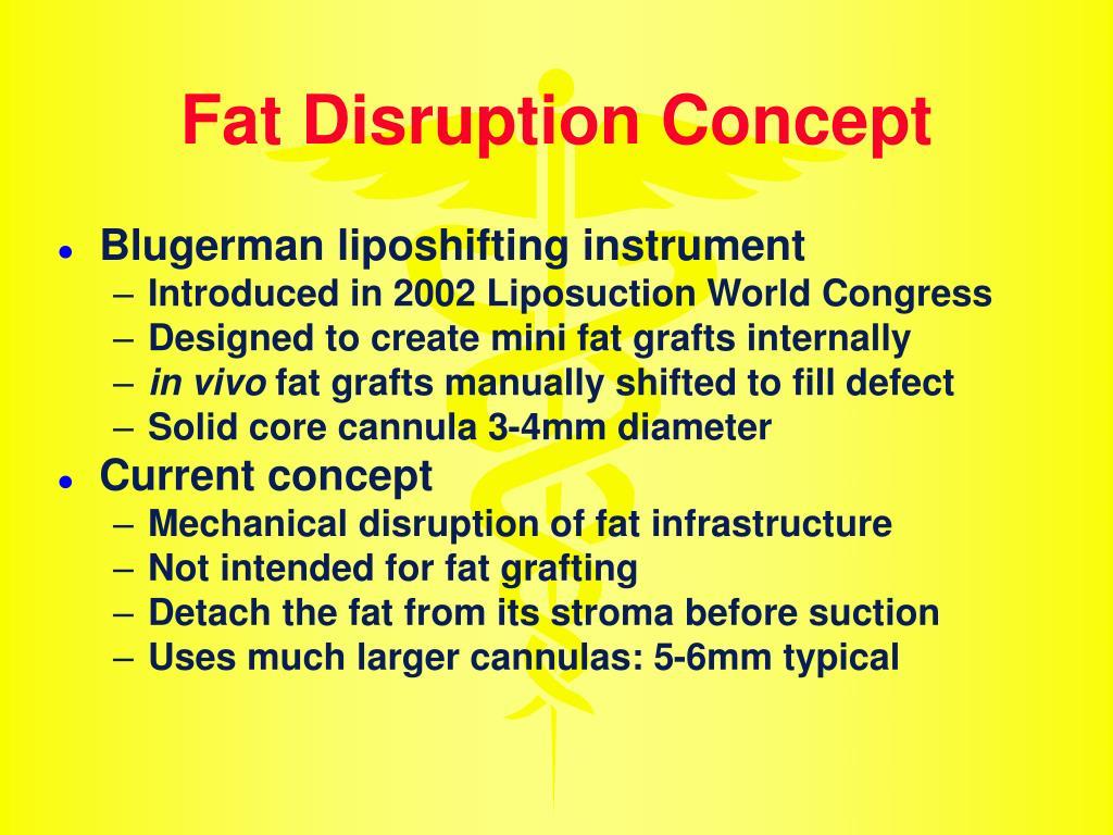 Fat Disruption Concept