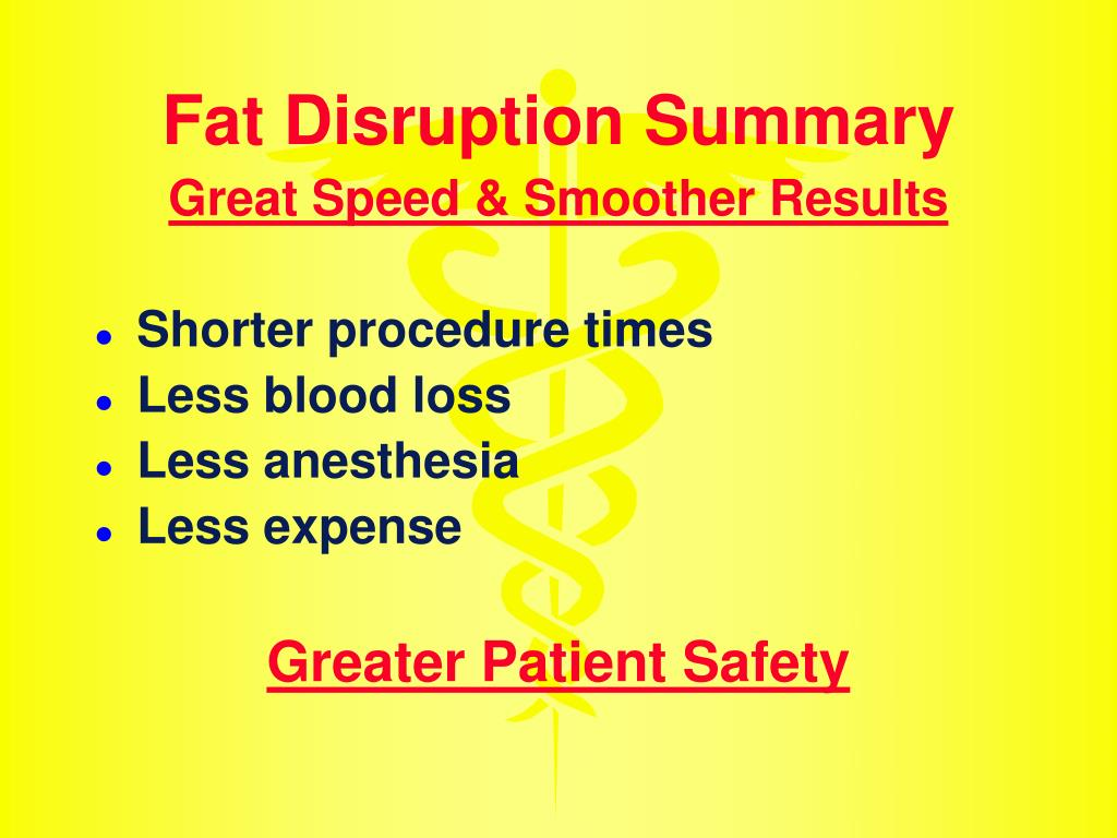 Fat Disruption Summary