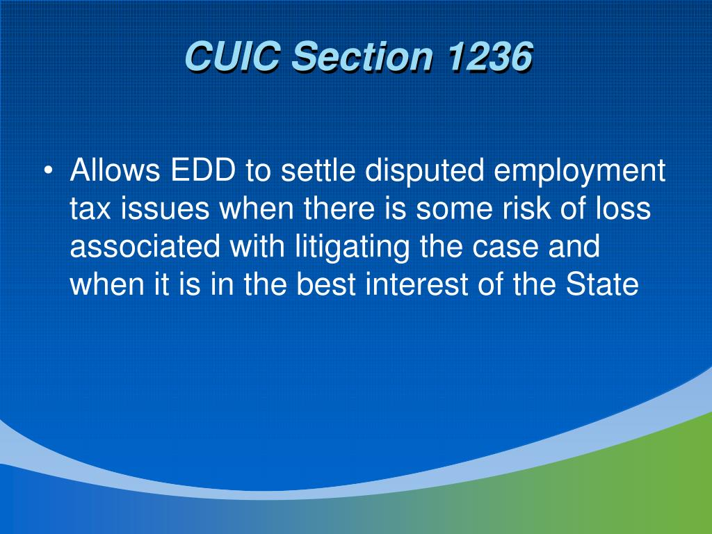 CUIC Section 1236