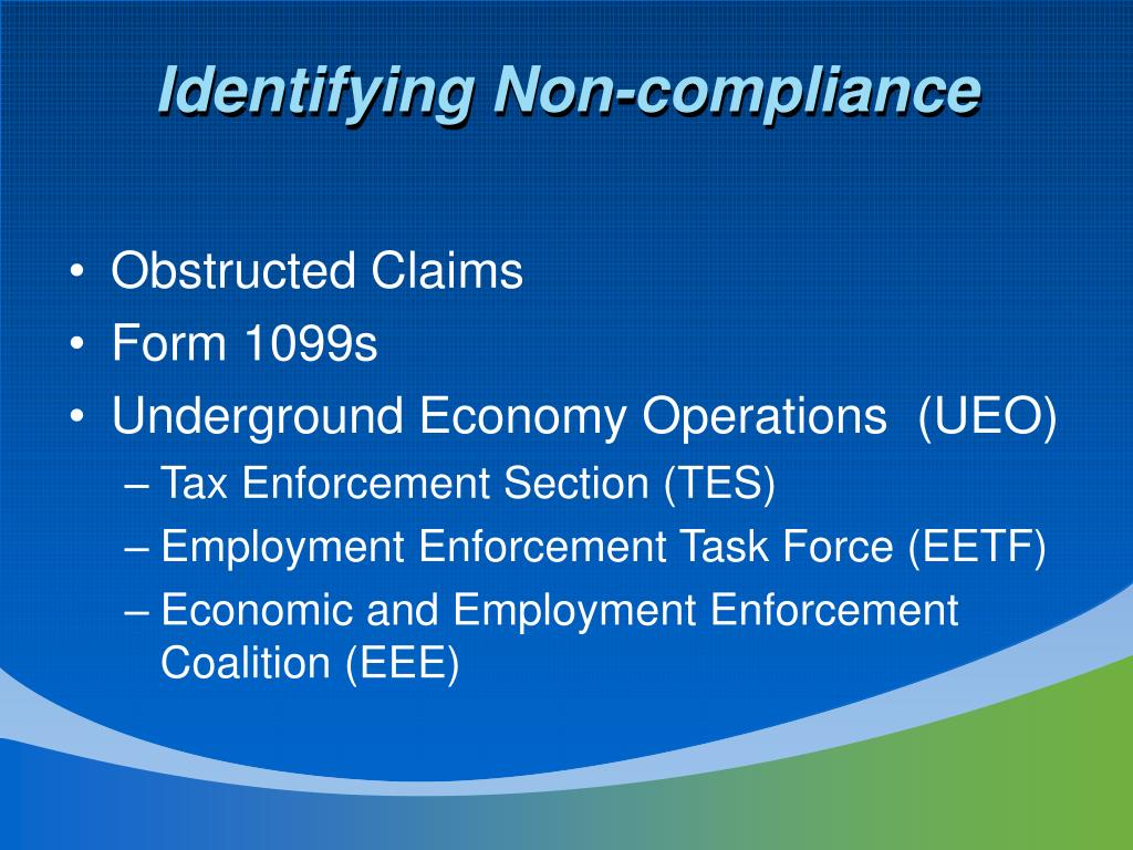 Identifying Non-compliance