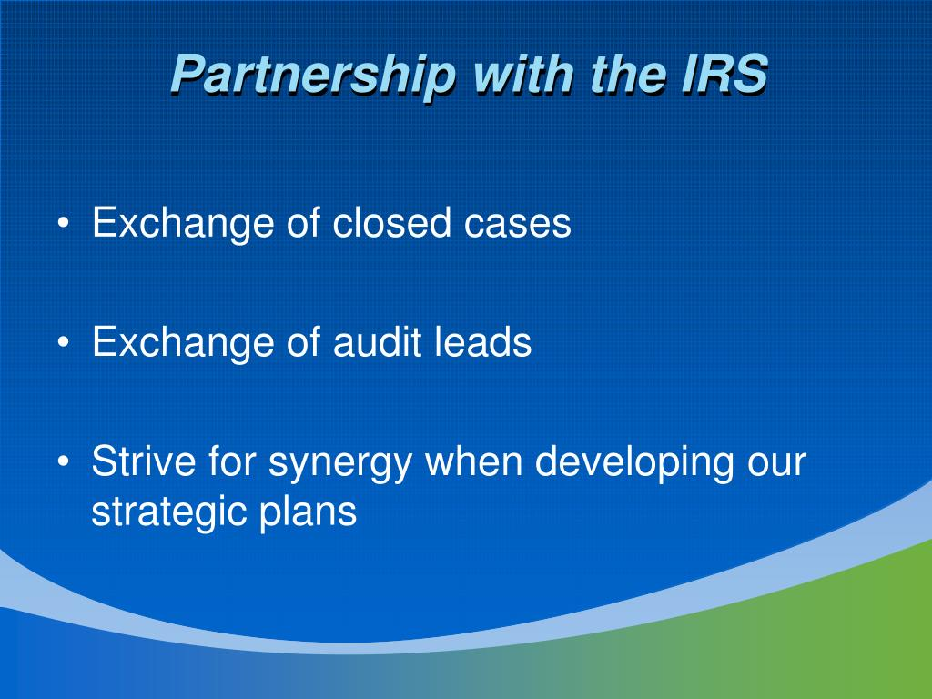 Partnership with the IRS