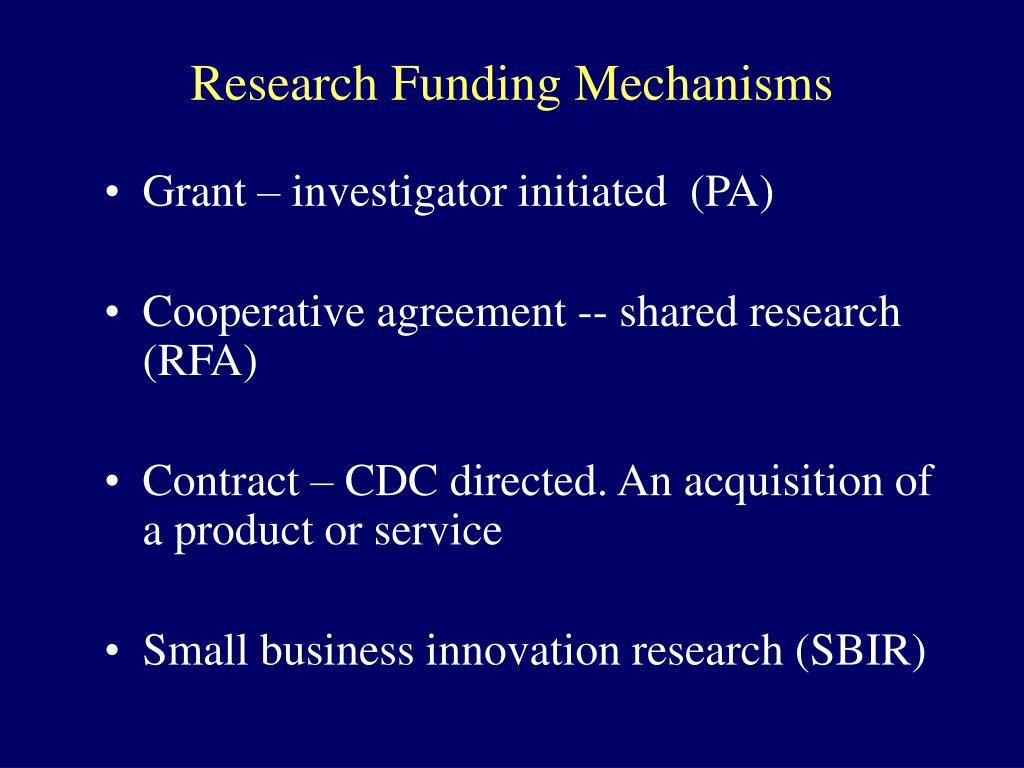Research Funding Mechanisms