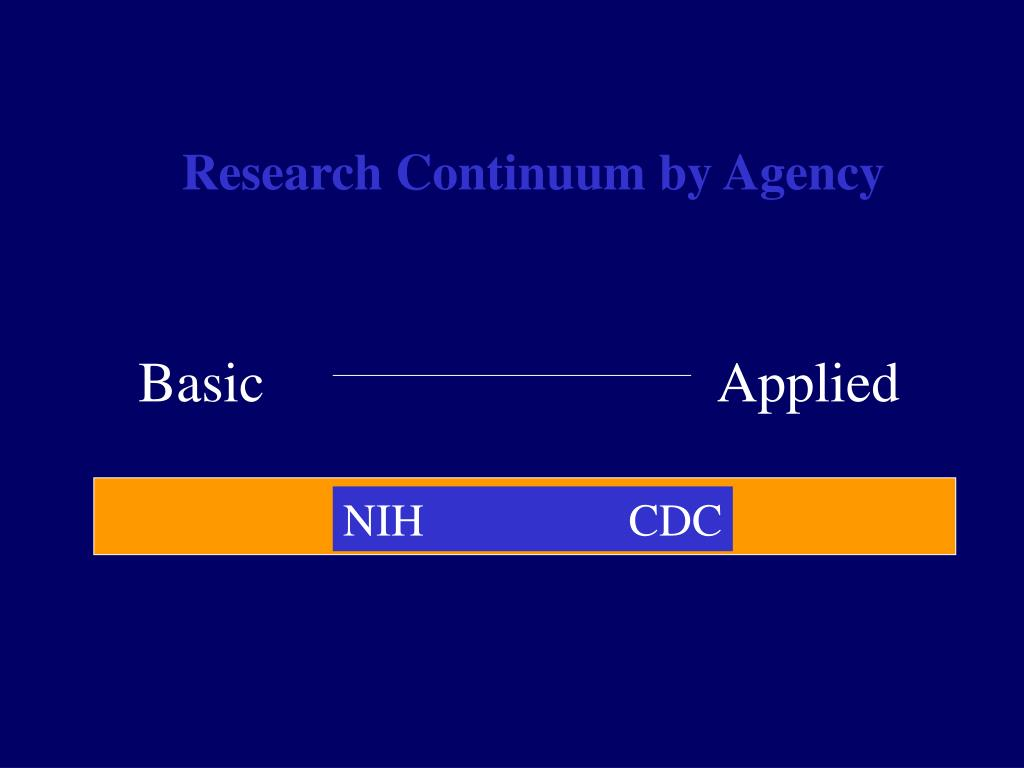 Research Continuum by Agency