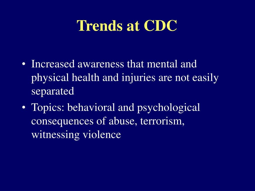 Trends at CDC