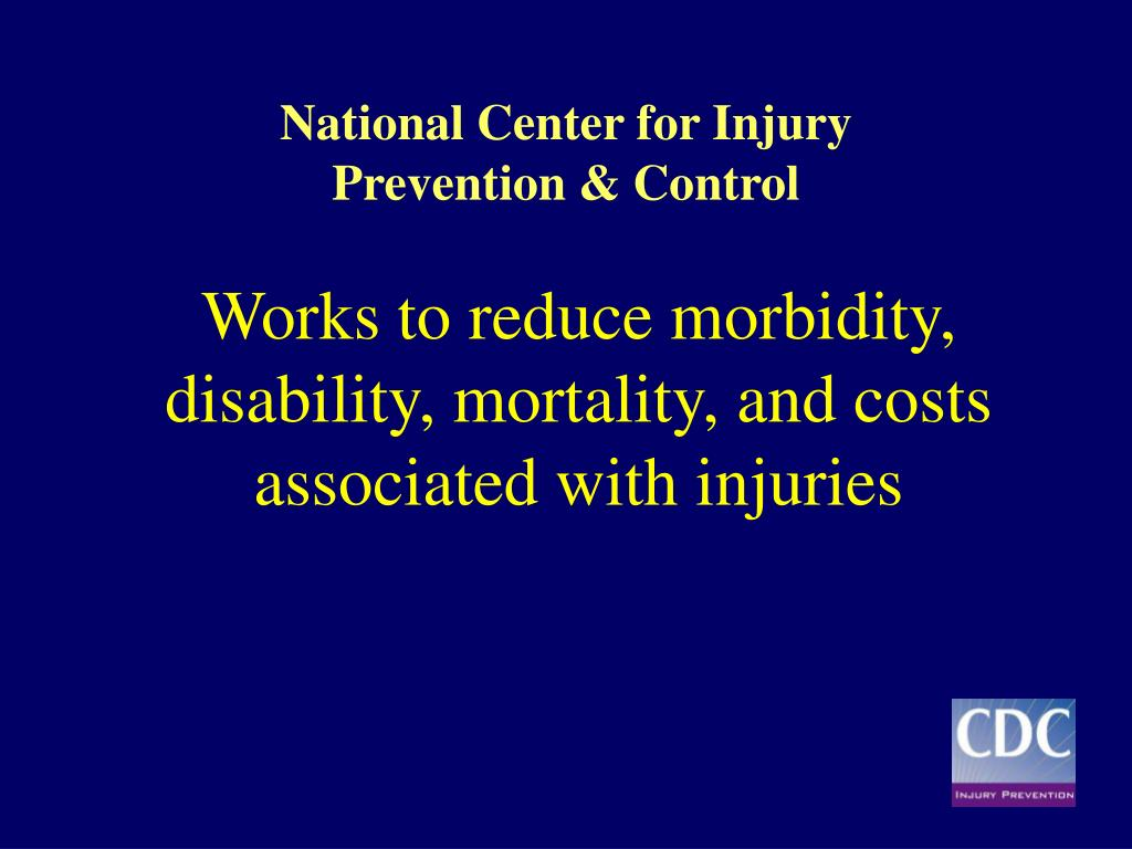 Works to reduce morbidity, disability, mortality, and costs associated with injuries