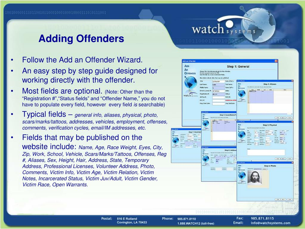 Adding Offenders