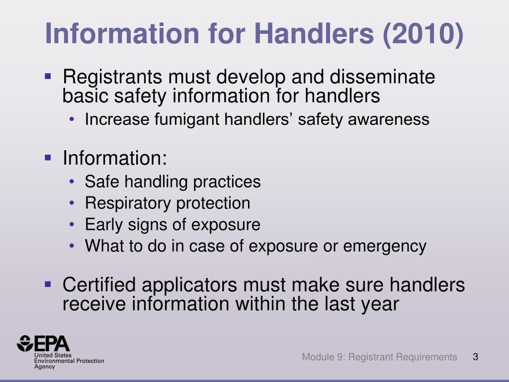 Information for Handlers (2010)