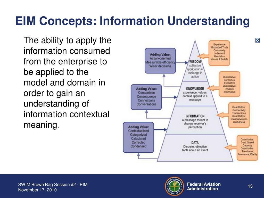EIM Concepts: Information Understanding