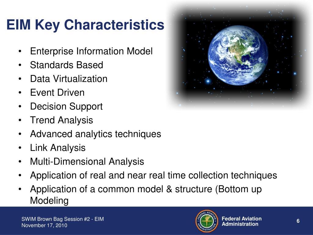 EIM Key Characteristics