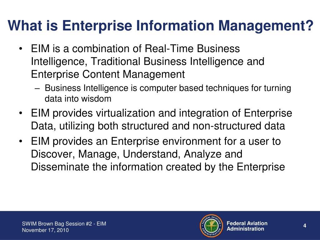 What is Enterprise Information Management?