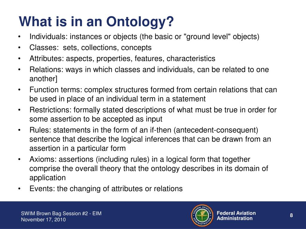 What is in an Ontology?