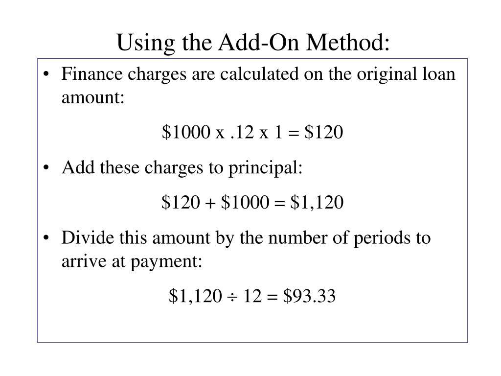 Using the Add-On Method: