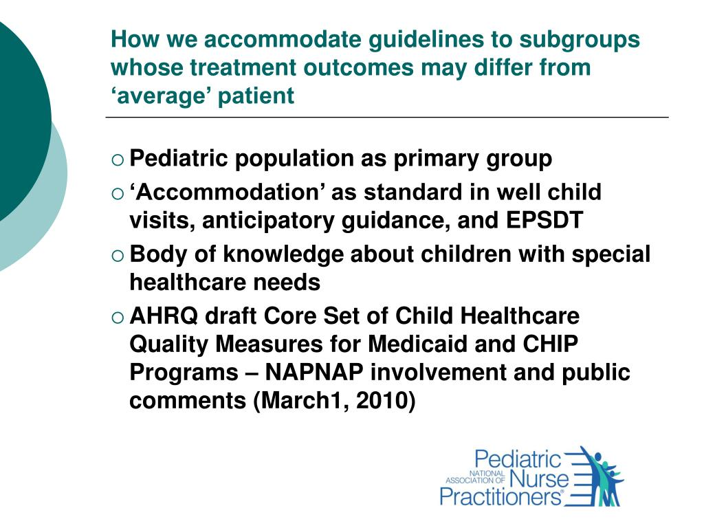 How we accommodate guidelines to subgroups whose treatment outcomes may differ from 'average' patient