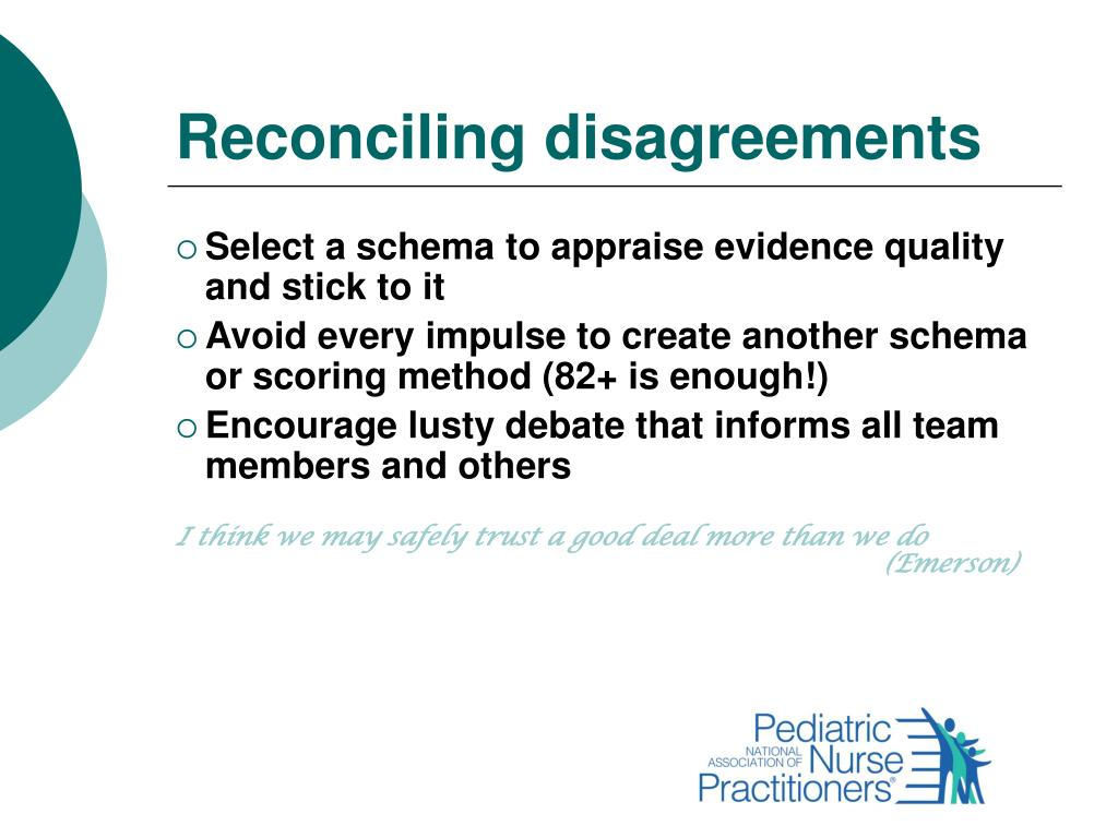 Reconciling disagreements