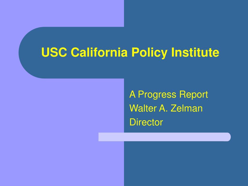 USC California Policy Institute
