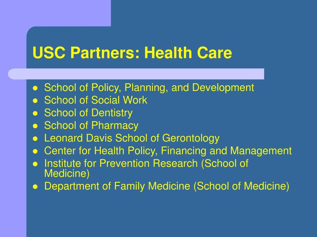 USC Partners: Health Care