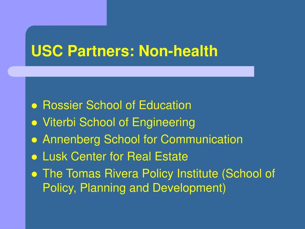 USC Partners: Non-health