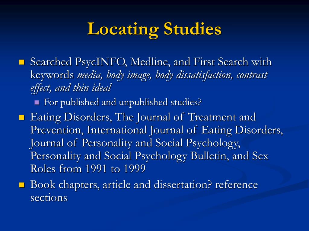 Body image dissatisfaction dissertation